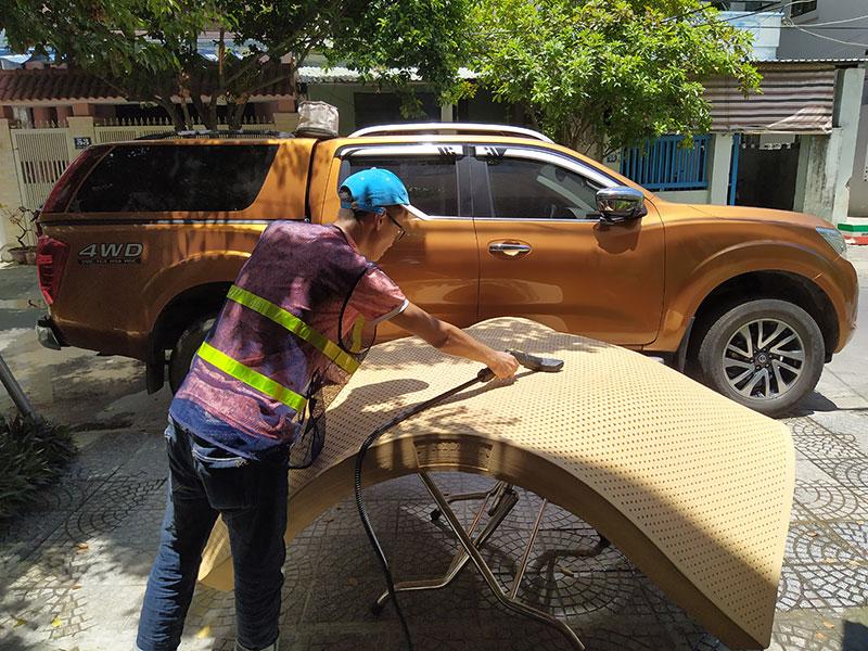 Dịch vụ giặt nệm kim dan, nệm lò xo, nệm bông ép tại Đà Nẵng