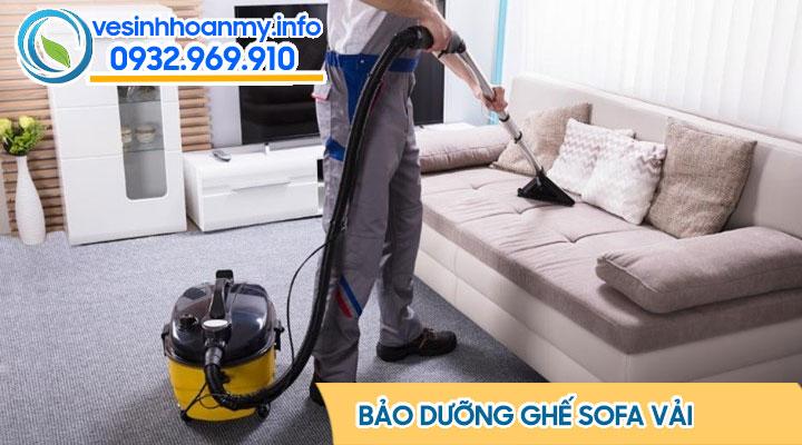 Bảo dưỡng sofa vải