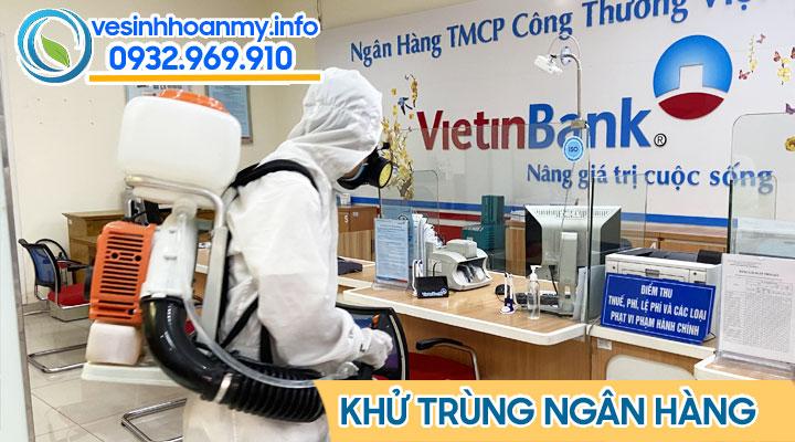 Phun khử khuẩn ngân hàng tại Đà Nẵng