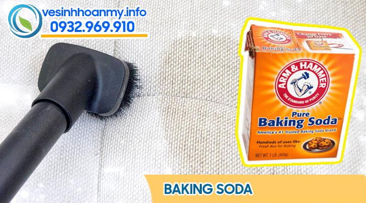cách làm sạch ghế sofa bằng Baking soda