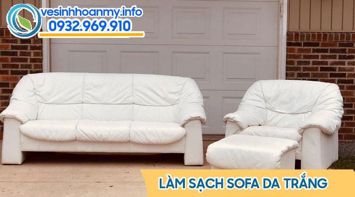 Cách làm sạch sofa da trắng