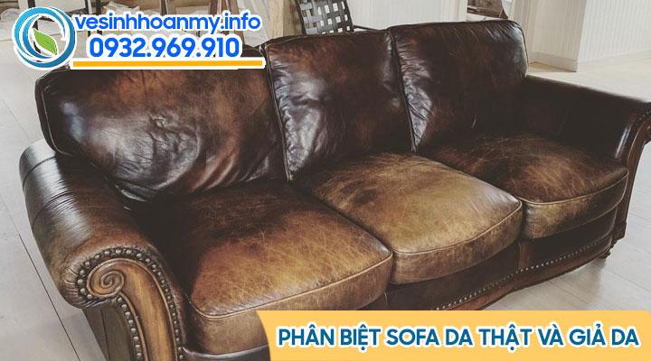 Cách phân biệt sofa da thạt và giả da