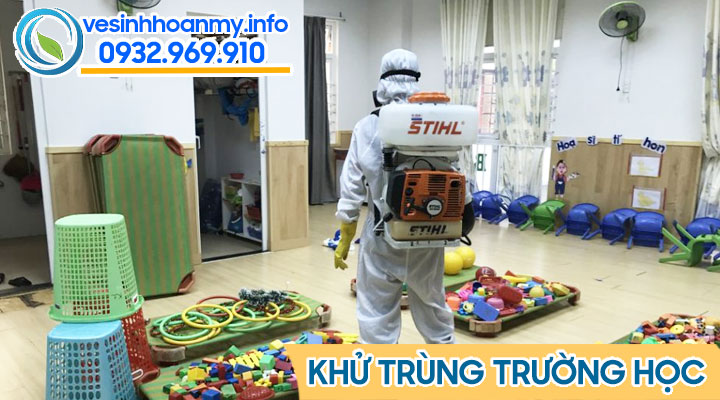 Phun khử khuẩn trường học tại Đà Nẵng
