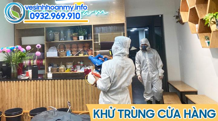 Phun khử khuẩn cửa hàng tại Đà Nẵng